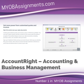 AccountRight – Accounting & Business Management Assignment Help