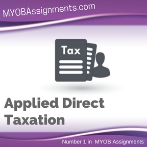 Applied Direct Taxation Assignment Help