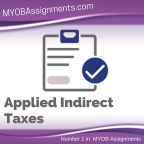 Applied Indirect Taxes Assignment Help
