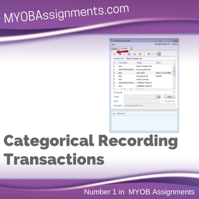 Categorical Recording Transactions Assignment Help