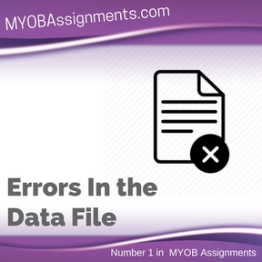 Errors In the Data File Assignment Help
