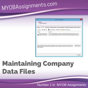 Maintaining Company Data Files Assignment Help