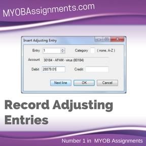 Record Adjusting Entries Assignment Help