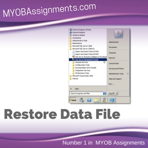 Restore Data File Assignment Help