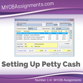 Setting Up Petty Cash Assignment Help