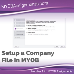Setup a Company File In MYOB Assignment Help